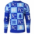 Kansas City Royals 2016 Patches MLB Ugly Crew Neck Sweater by Forever Collectibles