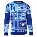 Kansas City Royals Patches MLB Ugly Sweater by Klew