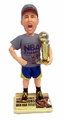 Klay Thompson (Golden State Warriors) 2015 NBA Champions (Real Fabric T-Shirt/Champ Hat) Bobble Head Exclusive #/500
