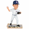 Kyle Hendricks (Chicago Cubs) 2016 World Series Champions Newspaper Base Bobble Head by Forever Collectibles