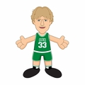 "Larry Bird (Boston Celtics) (Green) 10"" Player Plush NBA Bleacher Creatures"