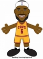 "LeBron James (Cleveland Cavaliers) (Gold Jersey) 10"" Player Plush NBA Bleacher Creatures"
