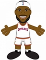 "LeBron James (Cleveland Cavaliers) (White Jersey) 10"" Player Plush NBA Bleacher Creatures"