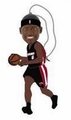 LeBron James (Miami Heat) Forever Collectibles NBA Player Ornament