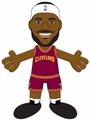 "LeBron James (Cleveland Cavaliers) (Maroon Jersey) 10"" Player Plush NBA Bleacher Creatures"