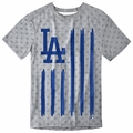 Los Angeles Dodgers Big Logo Flag Tee by Forever Collectibles