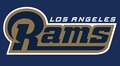 Los Angeles Rams 2016 Big Logo Women's V-Neck Ugly Sweater by Forever Collectibles