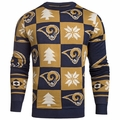 Los Angeles Rams 2016 Patches NFL Ugly Crew Neck Sweater by Forever Collectibles