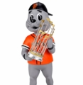 Lou Seal (San Francisco Giants - Mascot) 2014 World Series Champs Trophy Bobble Head Forever