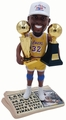 Magic Johnson (Los Angeles Lakers) 1987 NBA Champs Hat/Finals MVP Trophy Newspaper Base Bobble Head Exclusive by Forever Collectibles