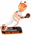 Manny Machado (Baltimore Orioles) Forever Collectibles 2014 MLB Springy Logo Base Bobblehead