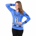 Marcus Mariota (Tennessee Titans) Glitter NFL Player Women's V-Neck Sweater