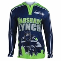 Marshawn Lynch #24 (Seattle Seahawks) NFL  Player Poly Hoody