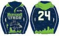 Marshawn Lynch #24 (Seattle Seahawks) NFL 2015 Player Poly Hoody
