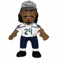 "Marshawn Lynch (Seattle Seahawks) Super Bowl XLVIII Champs (w/Hat) 10"" Player Plush Bleacher Creatures"