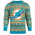 Miami Dolphins 2016 Aztec NFL Ugly Crew Neck Sweater by Forever Collectibles