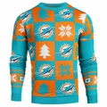 Miami Dolphins 2016 Patches NFL Ugly Crew Neck Sweater by Forever Collectibles
