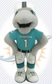 "Miami Dolphins NFL 8"" Plush Team Mascot"