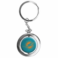 Miami Dolphins NFL Spinner Keychain