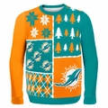 Miami Dolphins NFL Ugly Sweater Busy Block