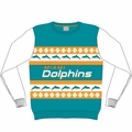 Miami Dolphins NFL Ugly Sweater Wordmark
