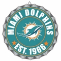 Miami Dolphins NFL Wall Decor Bottlecap Collection by Forever Collectibles