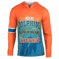 Miami Dolphins Super Bowl VIII Champions Poly Hoody Tee