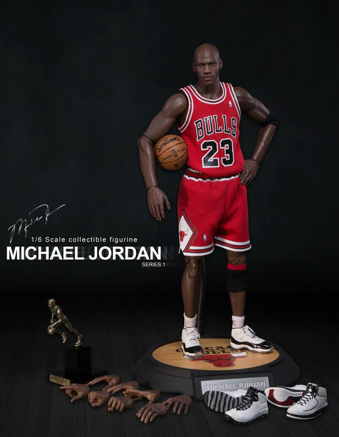 oglmcl Michael Jordan (Chicago Bulls) Series 1 #23 Road Red Jersey w/MVP