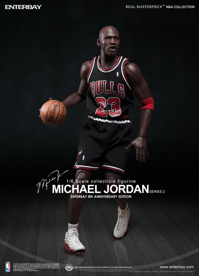 ioomxc Michael Jordan (Chicago Bulls) Series 2 #23 Road Black Jersey w