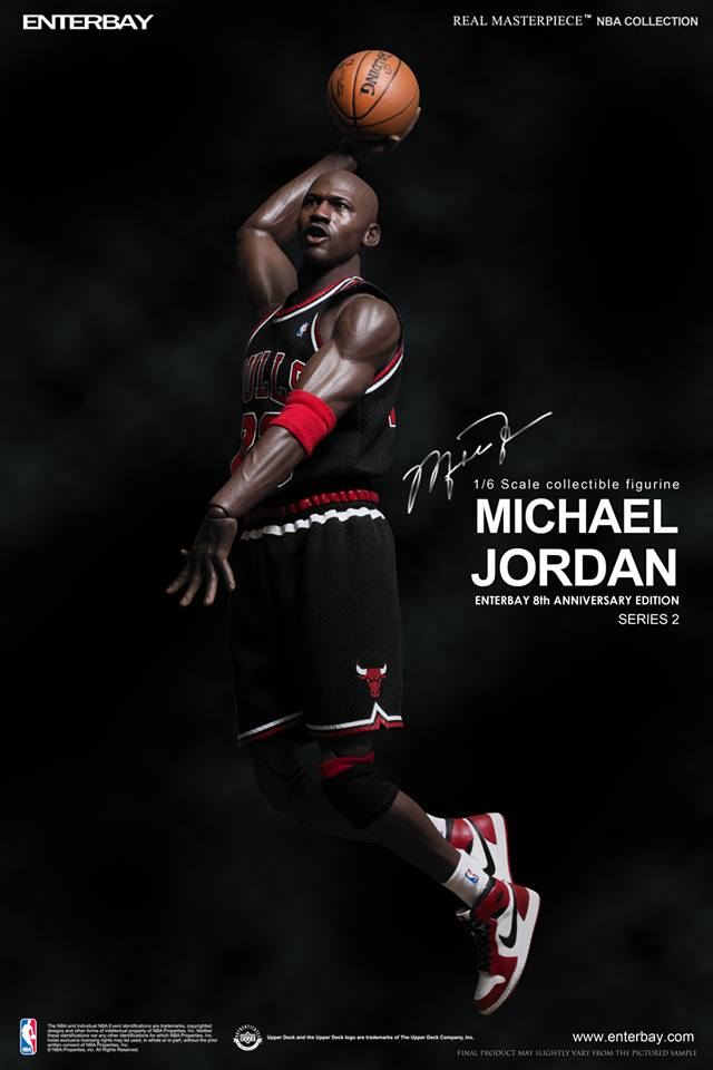 kguznu Michael Jordan (Chicago Bulls) Series 2 #23 Road Black Jersey w