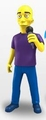 "Michael Stripe (R.E.M.) (The Simpsons 25th Anniversary) 5"" Action Figure Series 3 NECA"