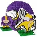 Minnesota Vikings NFL 3D BRXLZ Puzzle Set By Forever Collectibles