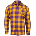 Minnesota Vikings NFL Checkered Men's Long Sleeve Flannel Shirt
