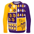 Minnesota Vikings NFL Ugly Sweater Busy Block