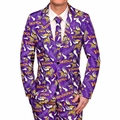 Minnesota Vikings NFL Repeat Logo Ugly Business Suit by Forever Collectibles