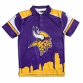 Minnesota Vikings NFL Polyester Short Sleeve Thematic Polo Shirt by Forever Collectibles