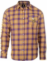 Minnesota Vikings Wordmark Mens Long Sleeve Flannel Shirt
