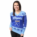 MLB 2016 Big Logo Women's V-Neck Ugly Sweater by Forever Collectibles