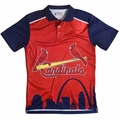MLB Polyester Short Sleeve Thematic Polo Shirts by Klew