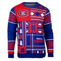 Montreal Canadiens NHL Patches Ugly Sweater  by Klew