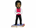 Moses Malone (Philadelphia 76ers) NBA 50 Greatest Players Bobble Head Forever