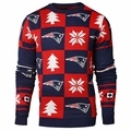 New England Patriots 2016 Patches NFL Ugly Crew Neck Sweater by Forever Collectibles