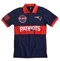 New England Patriots NFL Cotton Wordmark Rugby Short Sleeve Polo Shirt