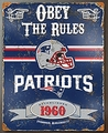 New England Patriots Embossed Metal Sign