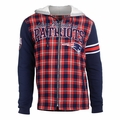 New England Patriots NFL Flannel Hooded Jacket by Klew