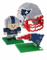 New England Patriots NFL 3D BRXLZ Puzzle Set By Forever Collectibles