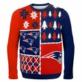 New England Patriots NFL Ugly Sweater Busy Block