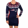New England Patriots NFL Women's Big Logo Sweater Dress