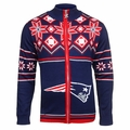 New England Patriots Split Logo NFL Sweater Jacket