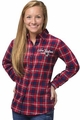 New England Patriots NFL 2016 Women's Wordmark Long Sleeve Flannel Shirt